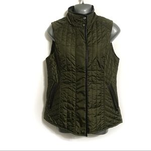 Banana Republic Green Quilted Vest Jacket Small